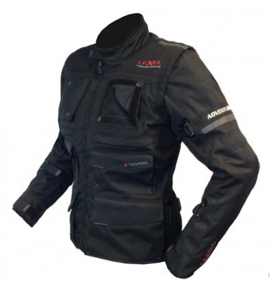 Giacca lunga moto donna Lady ADVENTURE RS 1.5 a 3 strati colore Nero
