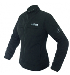Giubbino moto donna Lady SOFTSHELL1.5 antivento colore Nero