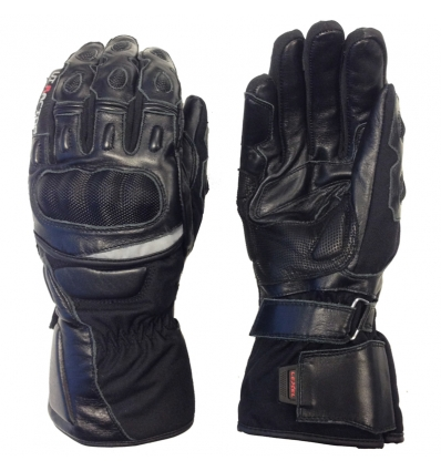 Guanto moto uomo VI-RACING 1.5 in pelle colore Nero