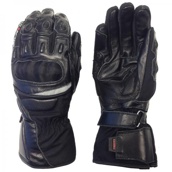 in arrivo comprare popolare colori armoniosi Guanto moto uomo VI-RACING 1.5 in pelle colore Nero Lexel motorbike