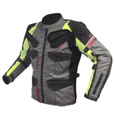 Giacca lunga moto uomo Man LX10 ANNIVERSARY  a 3 strati  colore Antracite / Giallo fluo