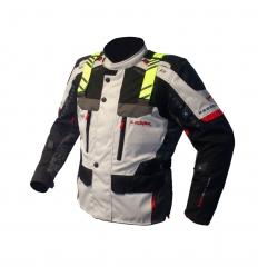 Giacca lunga moto uomo Man ARAGON HV. 1.5 Alta Visibilità a 3 strati colore Grigio Chiaro
