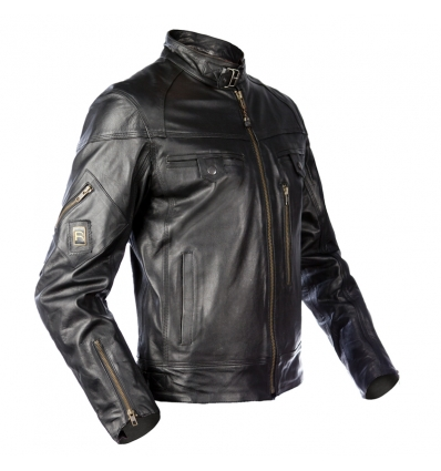 huge selection of d4fca de86a Giubbotto moto uomo ICE MAN in Pelle colore Nero Lexel motorbike