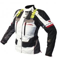Giacca lunga moto donna Lady ARAGON HV. 1.5 Alta Visibilità a 3 strati colore Grigio Chiaro