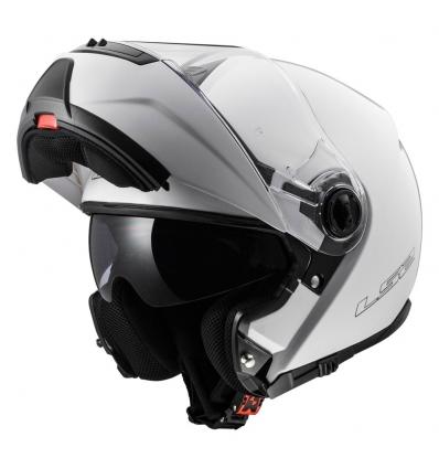 Casco moto apribile LS2 STROBE FF325 Nero Opaco