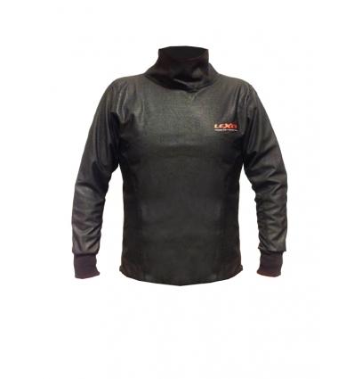 Maglia moto unisex  WINDTEX  termica e antivento colore Nero