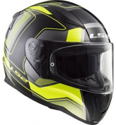 Casco moto integrale LS2 RAPID CARRERA FF353  Nero Giallo Fluo
