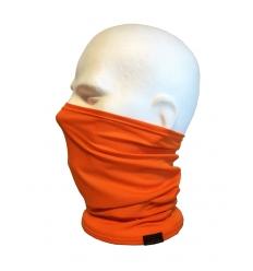 Collare moto unisex in cotone, colore Arancio Fluo