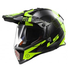 Casco moto integrale Touring Off Road  LS2 PIONEER TRIGGER MX436 Fluo