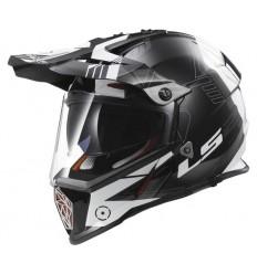 Casco moto integrale Touring Off Road  LS2 PIONEER TRIGGER MX436 Titanio