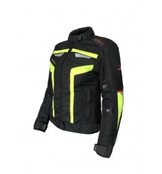 Lady R-EVOLUTION 1.5 - Giubbotto moto donna a 3 strati - Giallo Fluo