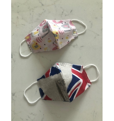 Mascherine per ragazzini in cotone per uso civile,  lavabili e riutilizzabili, Made in Italy