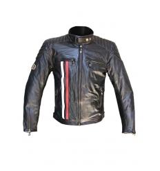 Giubbotto moto uomo ICE MAN in Pelle colore Nero