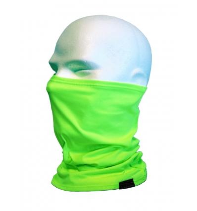Collare moto unisex in Lycra, colore Verde Fluo